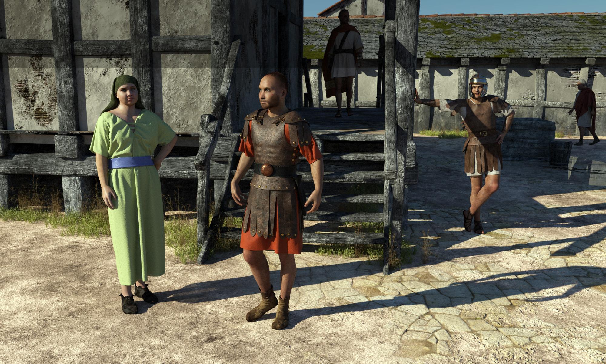 Roman castellum scene